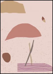 Abstract Art - Pink Poster
