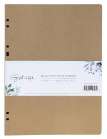 Feuilles d'album Timesaver SA4 - 30 feuilles marron