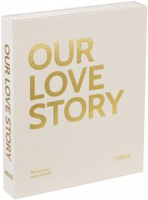 KAILA OUR LOVE STORY Creme - Coffee Table Photo Album (60 Pages Noires)