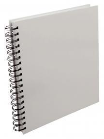 Album photo spirale carré Blanc -25x25 cm (80 pages noires / 40 feuilles)