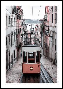 Lisbon Cable Car Poster