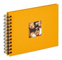 Fun Album spirale Jaune - 23x17 cm (40 pages noires / 20 feuilles)