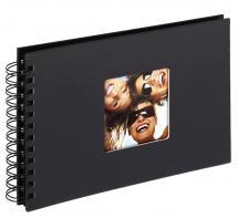 Fun Album spirale Noir - 23x17 cm (40 pages noires / 20 blad)