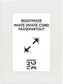 Passe-partout Blanc (noyau blanc) 30x40 cm (20x28,7)