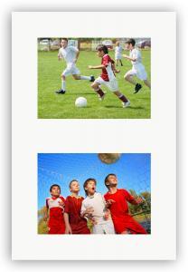Passe-partout Blanc 30x40 cm - Collage 2 Images (14x19 cm)