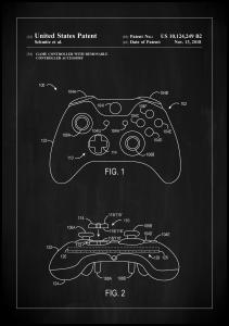 Patent Print - Game Controller III - Black Poster