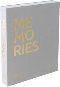 KAILA MEMORIES Grey - Coffee Table Photo Album (60 Pages Noires / 30 Feuilles)