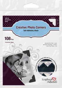 3L Creative Photo Corners Noir - 108 unités