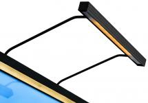 BLP 117 pour largeur de cadre 85-110 cm Éclairage de tableau - Noir