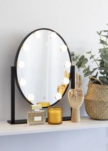KAILA Miroir de maquillage IV Noir - 34x47 cm