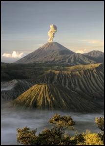 Green volcano Poster