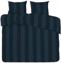 Parure de couette Big Stripe Satin Kingsize 3 pcs, bleu marine