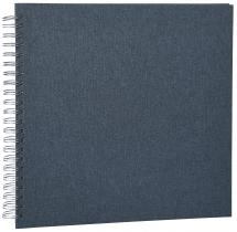Base Line Canevas Wire-O Bleu 30x30 cm (50 pages blanches / 25 feuilles)