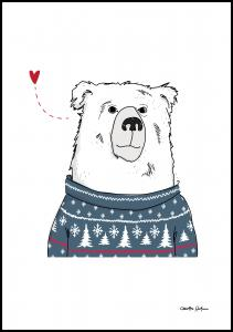 Winter Bear Poster