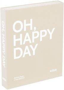 KAILA OH HAPPY DAY Grey - Coffee Table Photo Album (60 Pages Noires)