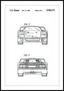 Dessin de brevet - Ferrari F40 III Poster