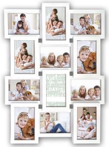 Maggiore Cadre collage X Blanc - 12 images
