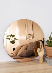 KAILA Miroir rond Rose Gold 50 cm Ø