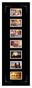 Passe-partout Noir 30x90 cm - Collage 7 Images (9x14 cm)