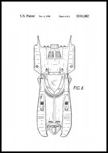 Dessin de brevet - Batman - Batmobile 1990 IIII Poster