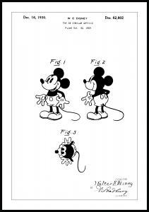 Dessin de brevet - Disney - Mickey Mouse - Poster