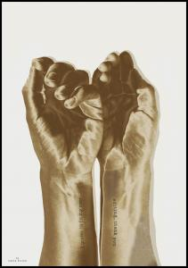 Gold hands Poster