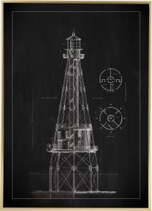 Ardoise - Phare - Ship Shoal Lighthouse Poster