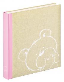 Dreamtime Album enfant Rose - 28x30,5 cm (50 pages blanches / 25 feuilles)
