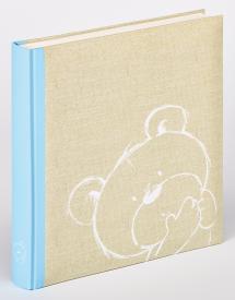 Dreamtime Album enfant Bleu - 28x30,5 cm (50 pages blanches / 25 feuilles)