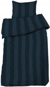 Parure de couette Big Stripe Satin 2 pcs, bleu marine