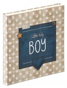 Little Album bébé Boy Bleu - 28x30,5 cm (50 pages blanches / 25 feuilles)