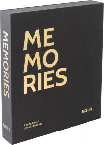 KAILA MEMORIES Black - Coffee Table Photo Album (60 Pages Noires / 30 Feuilles)