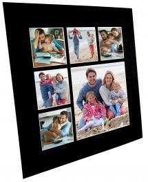 Passe-partout Noir Collage (noyau blanc) 6 images 50x50 cm