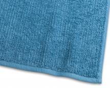 Essuie-main Stripe Éponge - Turquoise 50x70 cm
