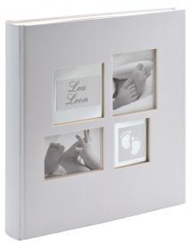 Little Foot Album Blanc gris - 28x30,5 cm (60 pages blanches / 30 feuilles)