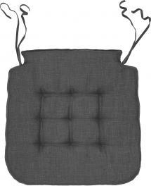 Coussin de chaise Elsa - Gris 42x41x3 cm