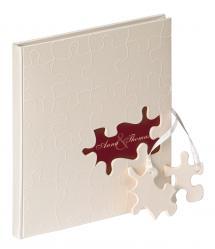 Puzzle Livre d'or - 23x25 cm (144 pages blanches / 72 feuilles)