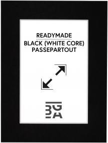 Passe-partout Noir (noyau blanc) 30x40 cm (19x29)