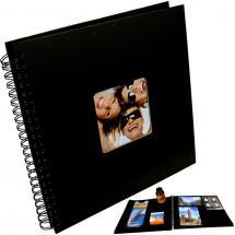 Fun Album spirale Noir - 30x30 cm (50 pages noires / 25 feuilles)