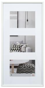 Galeria Cadre collage Blanc - 3 images (10x15 cm)