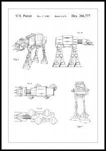 Dessin de brevet - Star Wars - Walker - Blanc Poster