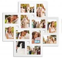Milano Cadre collage Plexiglas Blanc - 12 images