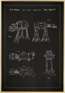 Dessin de brevet - Star Wars - Walker - Noir Poster