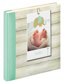 Welcome Album bébé Vert - 28x30,5 cm (50 pages blanches / 25 feuilles)
