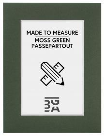 Passe-partout Vert mousse - Sur mesure (noyau blanc)