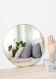 KAILA Round Mirror - Thin Brass 40 cm Ø