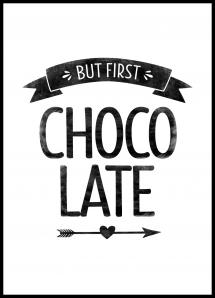 But first chocolate Retro Poster