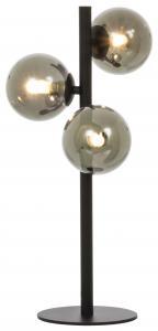 Lampe de table Molekyl 3 - Noir/Fumée