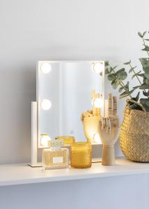 KAILA Miroir de maquillage VII Blanc - 30x36 cm