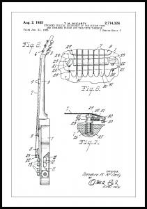 Dessin de brevet - Guitare électrique II - Poster